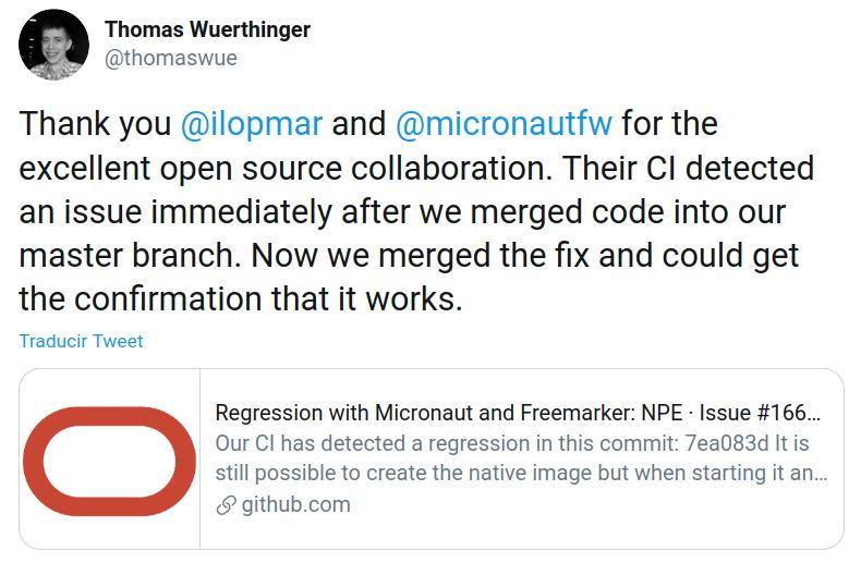 Tweet Thomas Wuerthinger