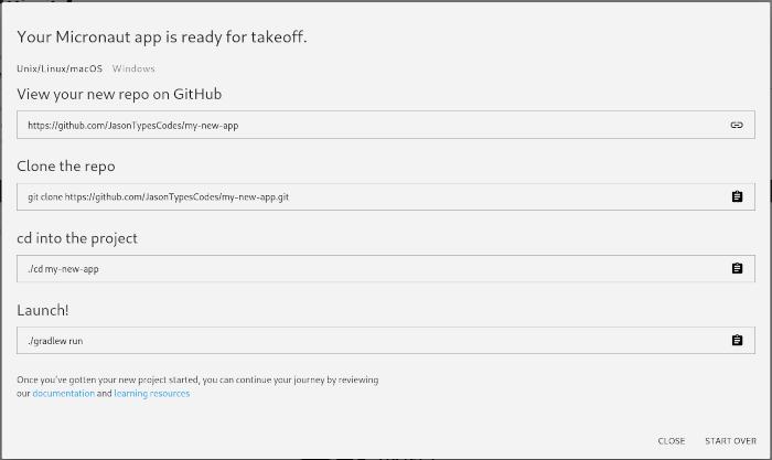 Push to GitHub result
